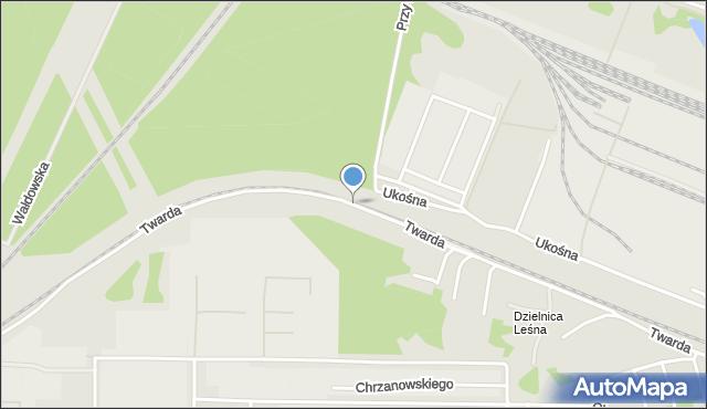 Toruń, Twarda, mapa Torunia