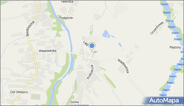 Wieprz powiat wadowicki, Twierdza, mapa Wieprz powiat wadowicki