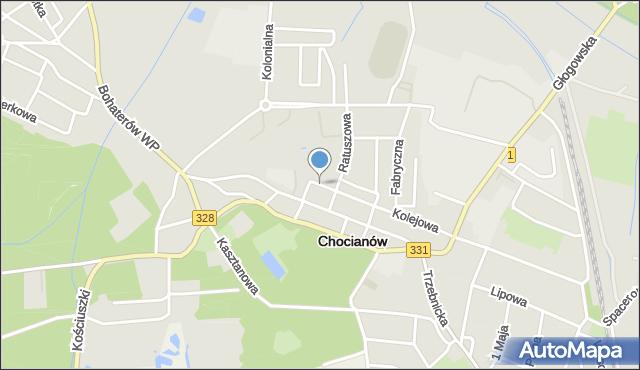 Chocianów, Tylna, mapa Chocianów