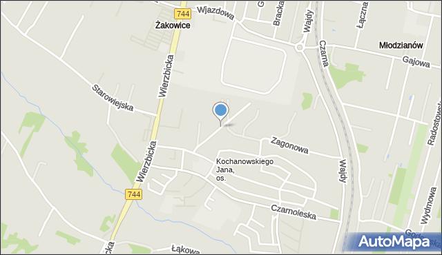 Radom, Tygodniowa, mapa Radomia