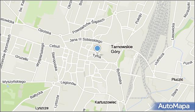 Tarnowskie Góry, Tylna, mapa Tarnowskie Góry