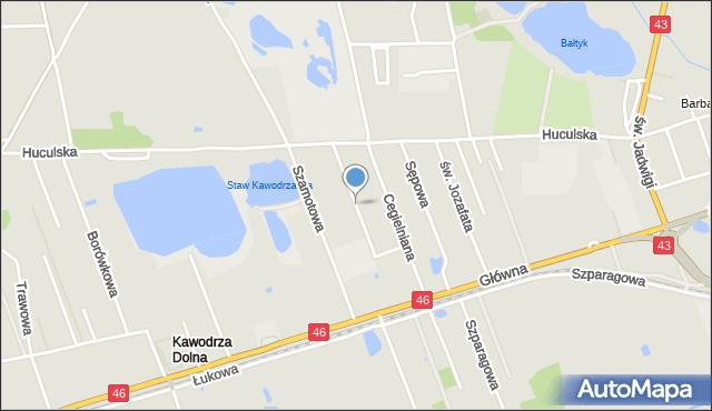 Częstochowa, Uczniowska, mapa Częstochowy