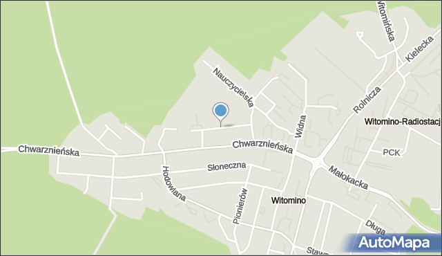 Gdynia, Uczniowska, mapa Gdyni