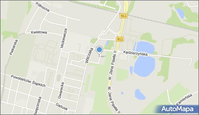 Bytom, Ułańska, mapa Bytomia