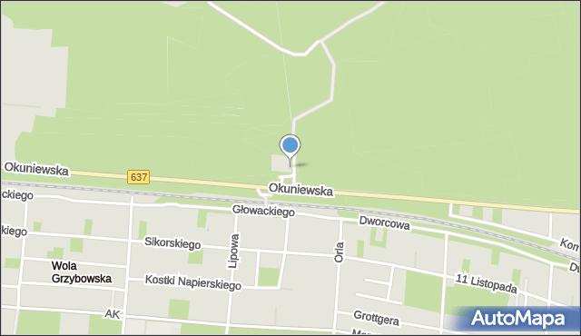 Warszawa, Uliczka, mapa Warszawy