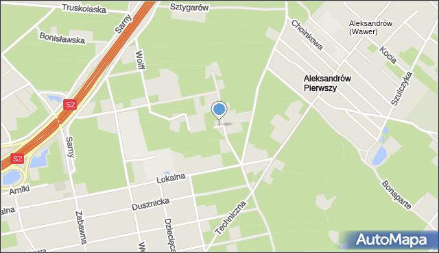 Warszawa, Umowna, mapa Warszawy