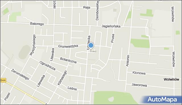 Chełm, Urocza, mapa Chełma