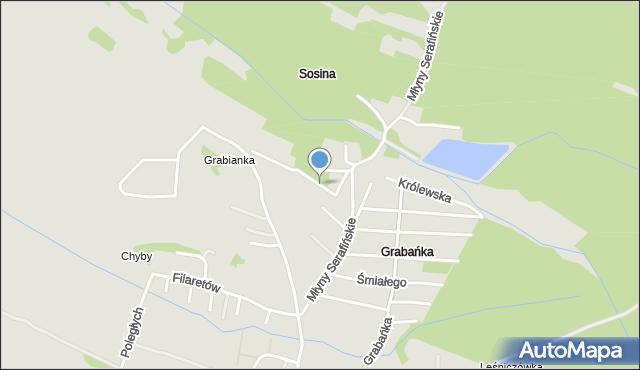 Jaworzno, Urocza, mapa Jaworzno