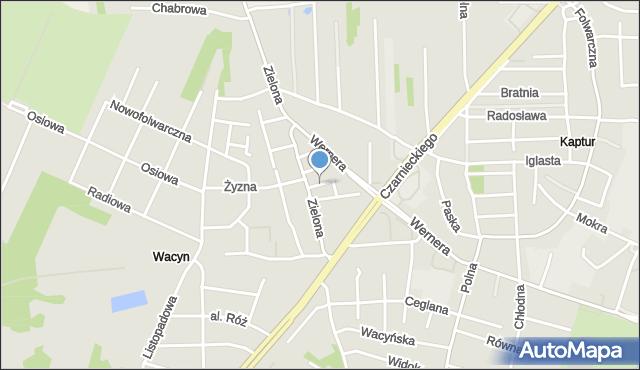 Radom, Urocza, mapa Radomia
