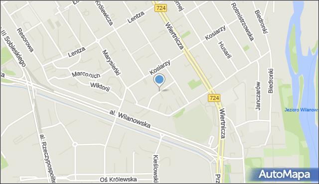 Warszawa, Urodzajna, mapa Warszawy