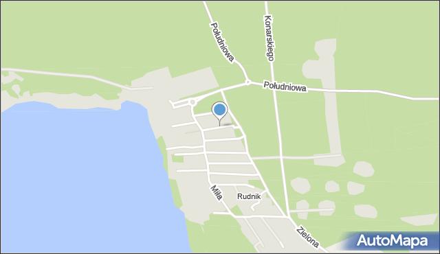 Grudziądz, Ustronna, mapa Grudziądza