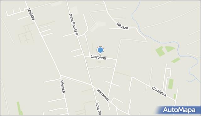 Rzeszów, Ustronna, mapa Rzeszów