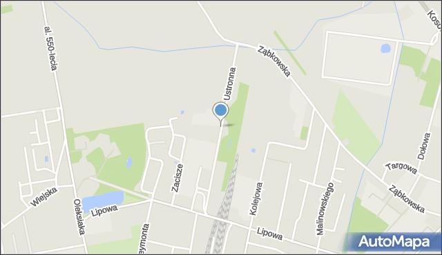 Sokołów Podlaski, Ustronna, mapa Sokołów Podlaski