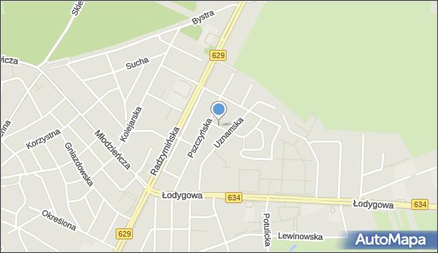 Warszawa, Ustronna, mapa Warszawy