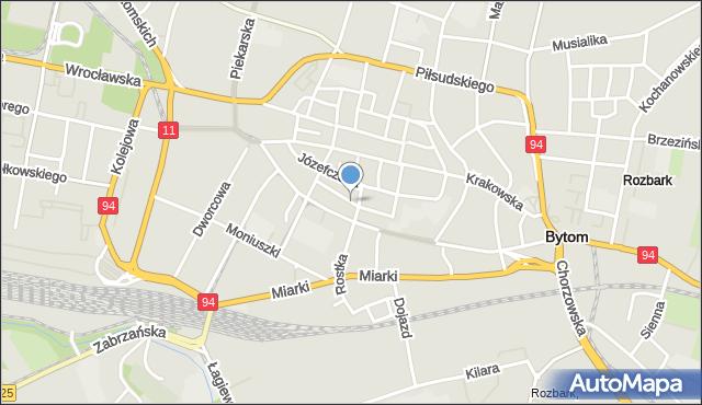 Bytom, Wałowa, mapa Bytomia