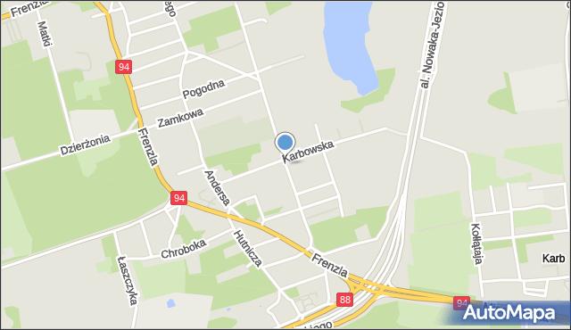 Bytom, Warszawska, mapa Bytomia