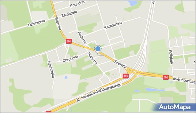Bytom, Wąska, mapa Bytomia