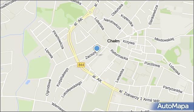 Chełm, Waśniewskiego Zenona, mapa Chełma