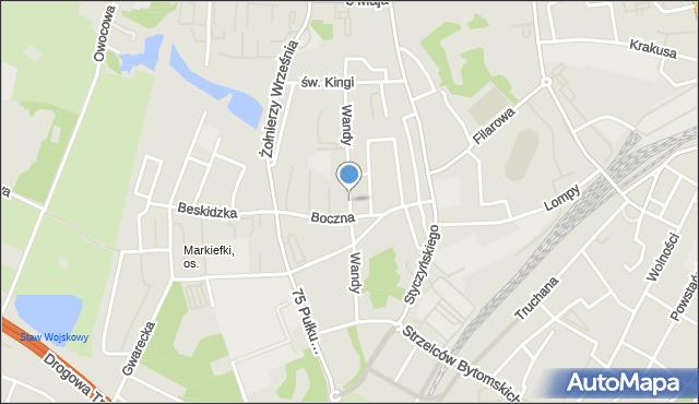 Chorzów, Wandy, mapa Chorzów