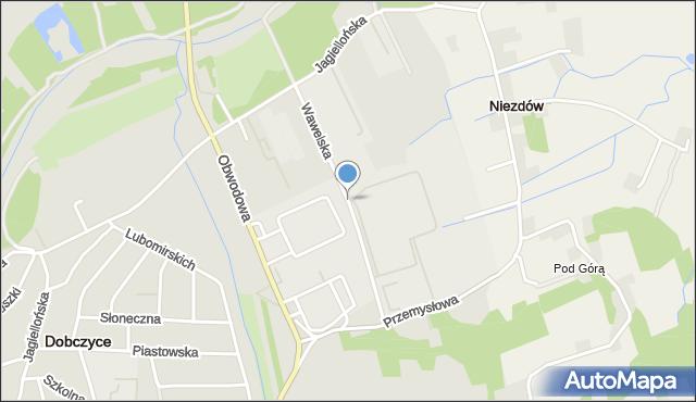 Dobczyce, Wawelska, mapa Dobczyce