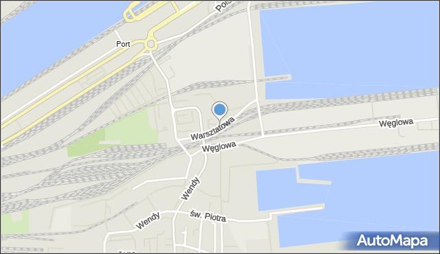 Gdynia, Warsztatowa, mapa Gdyni