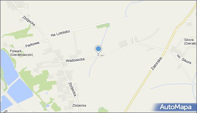 Gierałtowiczki, Wadowicka, mapa Gierałtowiczki