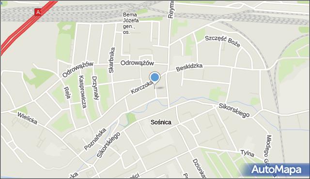 Gliwice, Wawelska, mapa Gliwic