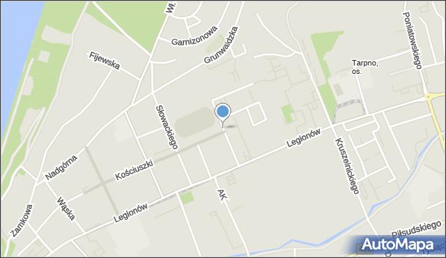 Grudziądz, Walentynowicz Anny, mapa Grudziądza