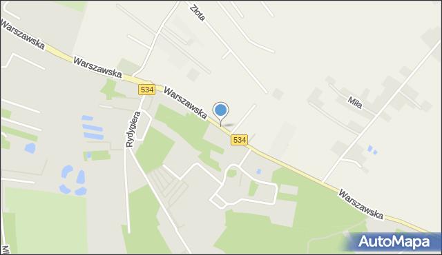 Grudziądz, Warszawska, mapa Grudziądza