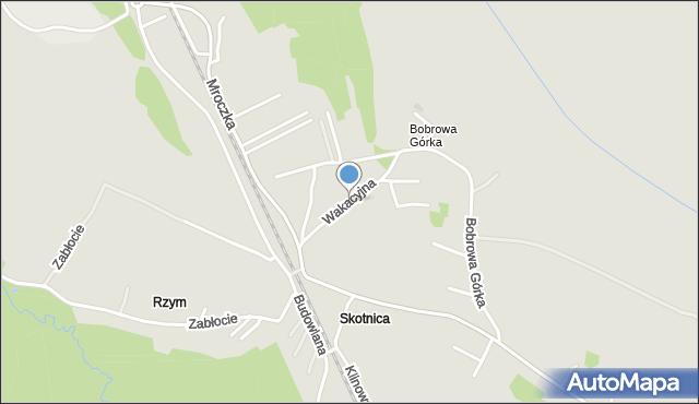 Jaworzno, Wakacyjna, mapa Jaworzno