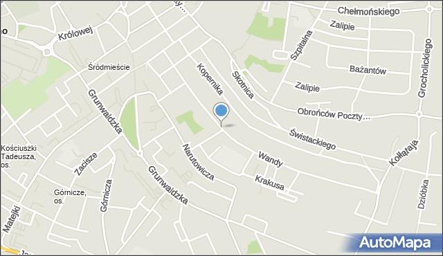 Jaworzno, Wandy, mapa Jaworzno