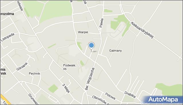 Jaworzno, Wapienna, mapa Jaworzno