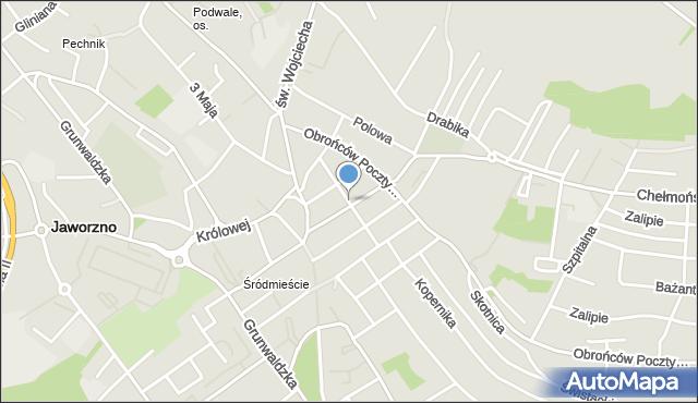 Jaworzno, Waryńskiego Ludwika, mapa Jaworzno