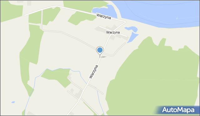 Księginice gmina Miękinia, Warzyna, mapa Księginice gmina Miękinia