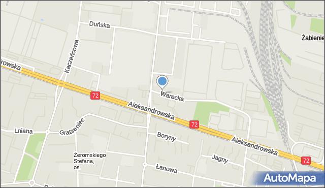 Łódź, Warecka, mapa Łodzi