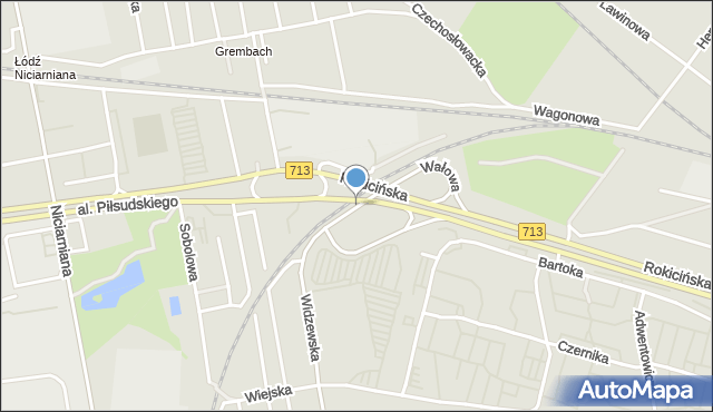 Łódź, Wałowa, mapa Łodzi