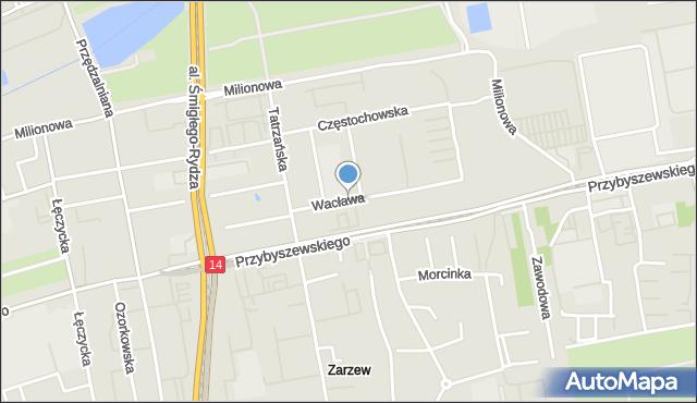 Łódź, Wacława, mapa Łodzi