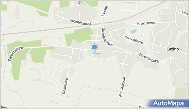 Luzino, Wąska, mapa Luzino
