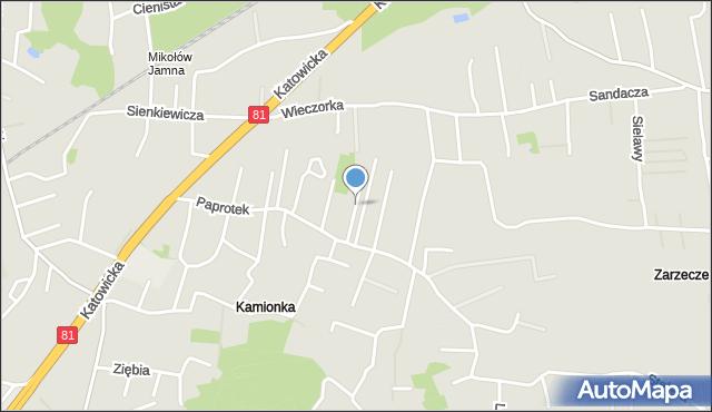 Mikołów, Wąska, mapa Mikołów