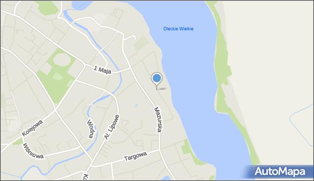Olecko, Warmińska, mapa Olecko