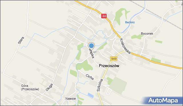 Przeciszów, Wąska, mapa Przeciszów