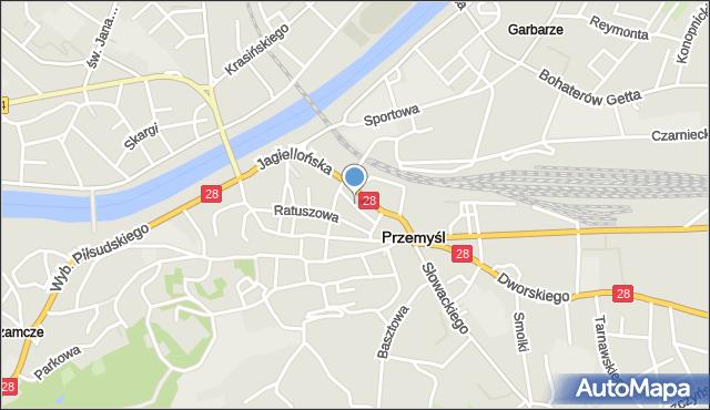 Przemyśl, Wałowa, mapa Przemyśla