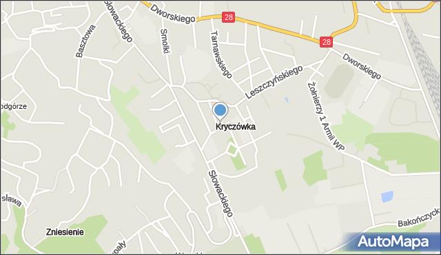 Przemyśl, Wapowskiego Bernarda, mapa Przemyśla
