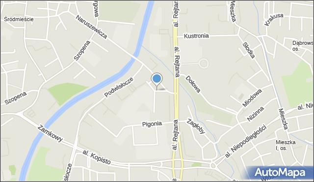 Rzeszów, Warzywna, mapa Rzeszów