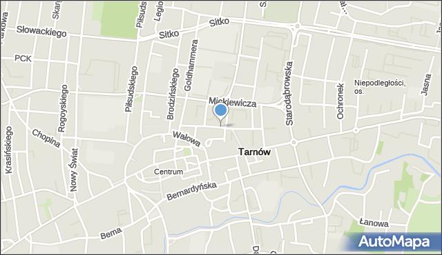 Tarnów, Waryńskiego Ludwika, mapa Tarnów