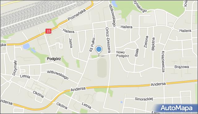 Toruń, Waczyńskiego Szczepana, mapa Torunia