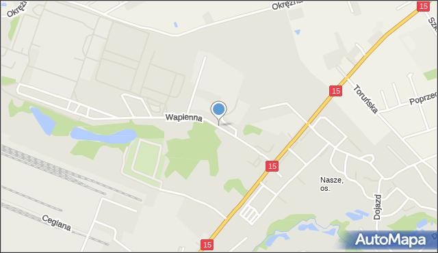 Toruń, Wapienna, mapa Torunia