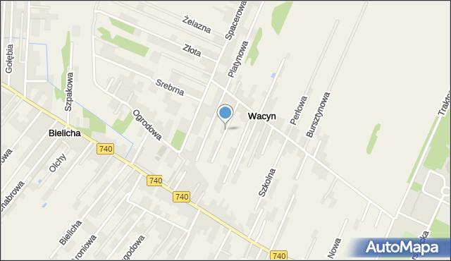 Wacyn, Wapienna, mapa Wacyn