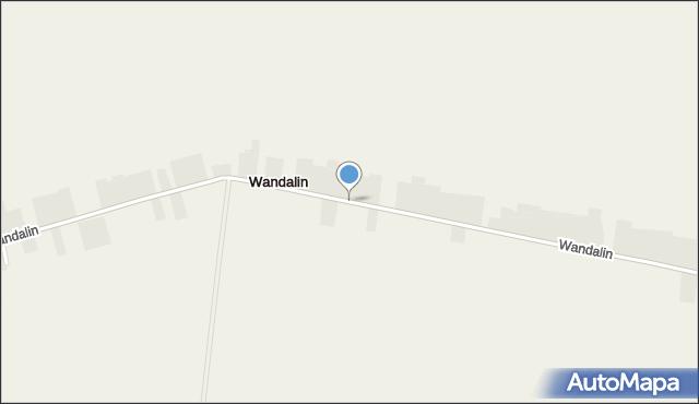 Wandalin gmina Opole Lubelskie, Wandalin, mapa Wandalin gmina Opole Lubelskie