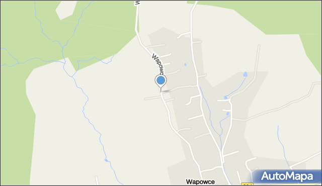Wapowce, Wapowce, mapa Wapowce
